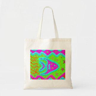 Fun Aquatic Fish Stars Colorful Kids Doodle Bags