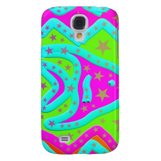 Fun Aquatic Fish Stars Colorful Kids Doodle Galaxy S4 Cases