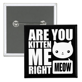 Fun Are You Kitten Me Right Meow Square Button