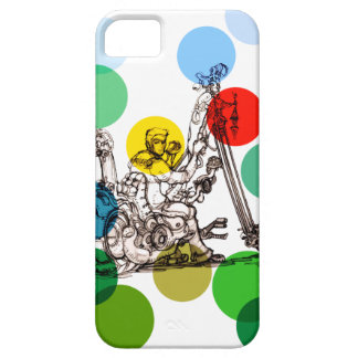 Fun Art Drawing of a Fantasy Motorcycle Man iPhone 5 Covers