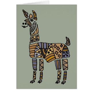 Fun Artistic Llama Art Card