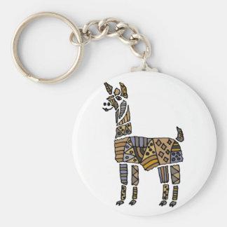 Fun Artistic Llama Art Keychain