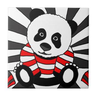 Fun Artistic Panda Bear Art Ceramic Tile