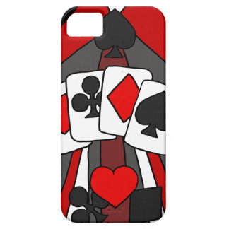 Fun Artistic Playing Cards Abstract Art iPhone 5 Case