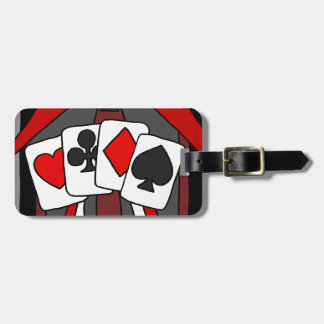 Fun Artistic Playing Cards Abstract Art Luggage Tag