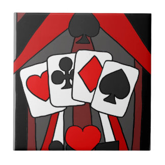 Fun Artistic Playing Cards Abstract Art Tile