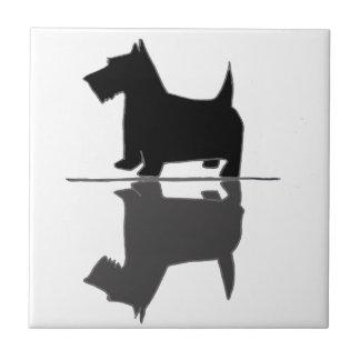 Fun Artistic Scottish Terrier Reflections Ceramic Tiles
