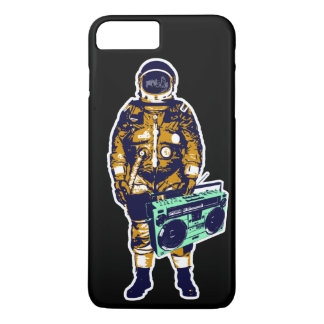 Fun astronaut holding a vintage 80s boom box… iPhone 7 plus case