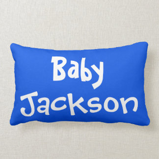 Fun Baby Boy's Name and Birth Date Reversible Lumbar Pillow