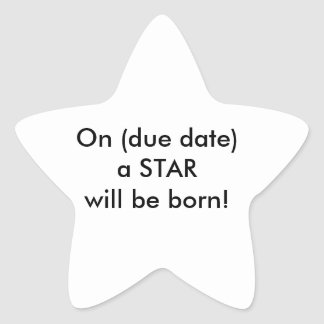 Fun baby shower decor! star sticker