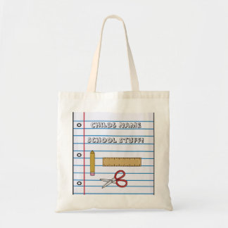 Fun Back to School Bag Notepaper, Pencil, Ruler, S