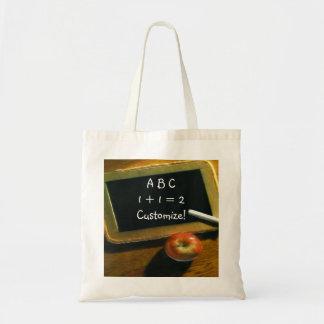 Fun Back to School Chalkboard Apple Tote Bag