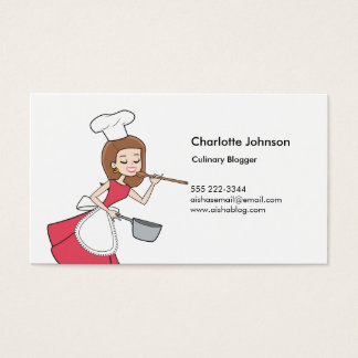 Fun Baker Business Card Illustrated