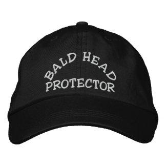 Fun Bald Head Protector Device Embroidered Baseball Cap