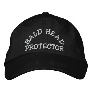 Fun Bald Head Protector Device Embroidered Hat