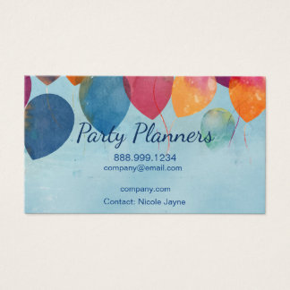 Fun Balloon Party or Event Planners Business Card