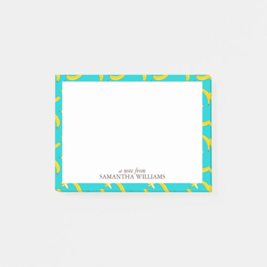 Fun Bananas Pattern Personalized Post-it Notes