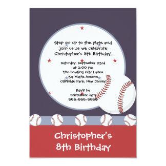 Fun Baseball Boys Birthday Party Invitations