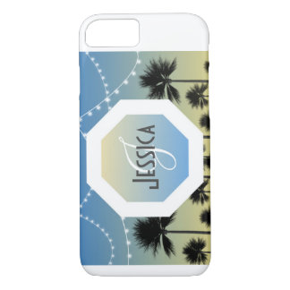 Fun Beach Personalized Monogram Phone Case