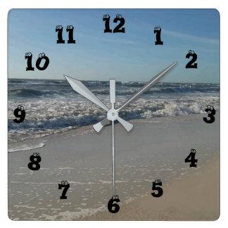 Fun Beach Print Wall Clock