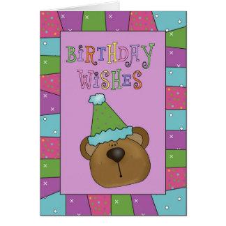 Fun Bear Birthday Wishes Birthday Greeting Card
