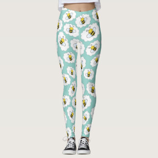 Fun Bee Pattern Leggings