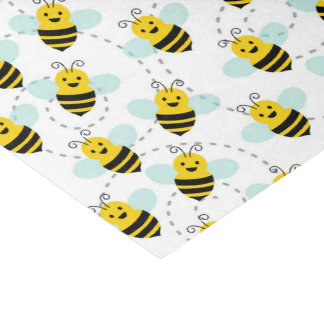 Fun bee pattern party tiled tissue tissue paper
