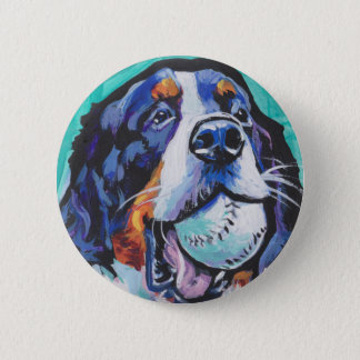 FUN Bernese Mountain Dog pop art painting 2 Inch Round Button