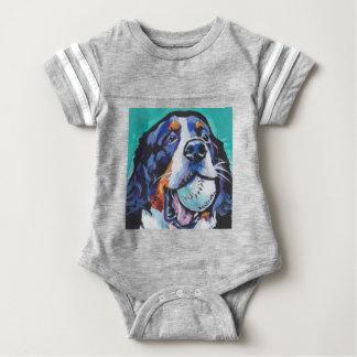 FUN Bernese Mountain Dog pop art painting Baby Bodysuit