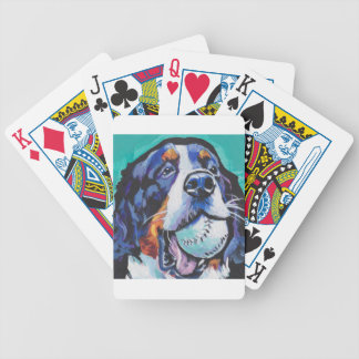 FUN Bernese Mountain Dog pop art painting Bicycle Playing Cards
