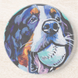 FUN Bernese Mountain Dog pop art painting Coaster