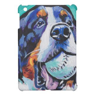 FUN Bernese Mountain Dog pop art painting iPad Mini Case