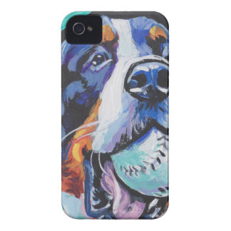 FUN Bernese Mountain Dog pop art painting iPhone 4 Case