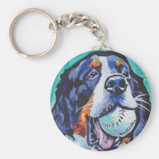 FUN Bernese Mountain Dog pop art painting Keychain