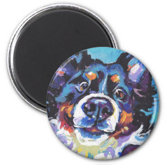 FUN Bernese Mountain Dog pop art painting Magnet