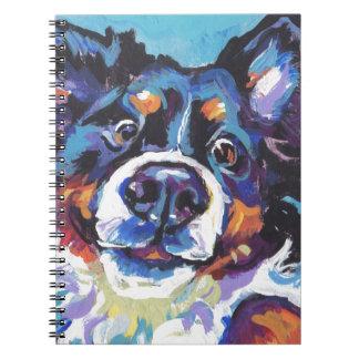 FUN Bernese Mountain Dog pop art painting Notebook
