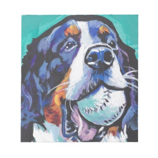 FUN Bernese Mountain Dog pop art painting Notepad
