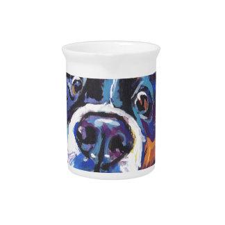 FUN Bernese Mountain Dog pop art painting Pitcher