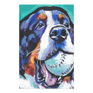 FUN Bernese Mountain Dog pop art painting Stationery