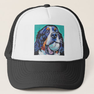 FUN Bernese Mountain Dog pop art painting Trucker Hat