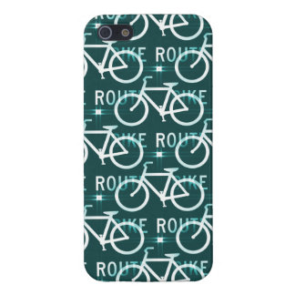 Fun Bike Route Fixie Bicycle Cyclist Pattern Case For iPhone 5