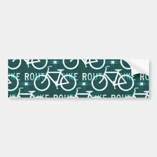 Fun Bike Route Fixie Bike Cyclist Pattern Bumper Sticker