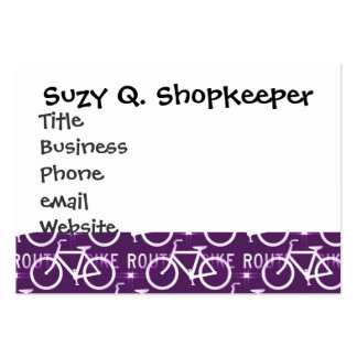 Fun Bike Route Fixie Bike Cyclist Pattern Pack Of Chubby Business Cards