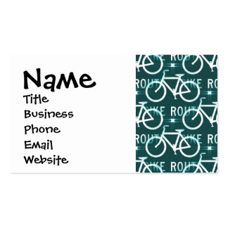 Fun Bike Route Fixie Bike Cyclist Pattern Pack Of Standard Business Cards