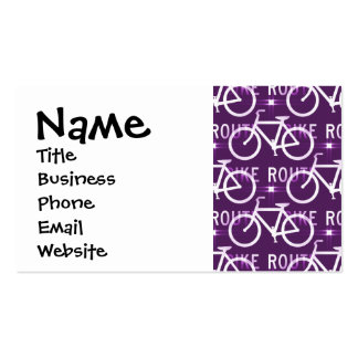 Fun Bike Route Fixie Bike Cyclist Pattern Business Card Template