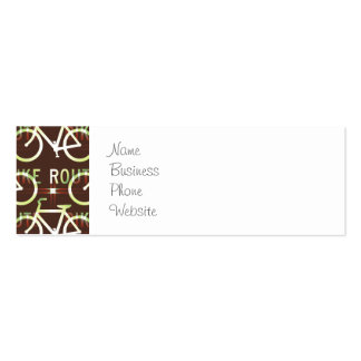 Fun Bike Route Fixie Bike Cyclist Pattern Pack Of Skinny Business Cards