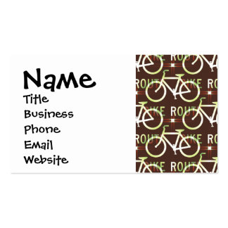 Fun Bike Route Fixie Bike Cyclist Pattern Business Card Templates
