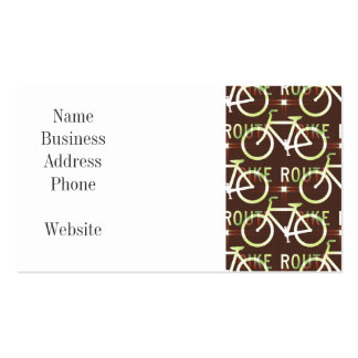 Fun Bike Route Fixie Bike Cyclist Pattern Business Cards
