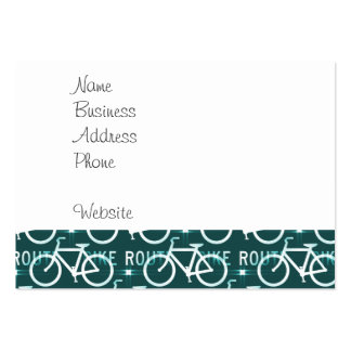 Fun Bike Route Fixie Bike Cyclist Pattern Business Card