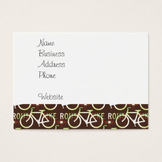 Fun Bike Route Fixie Bike Cyclist Pattern Business Card